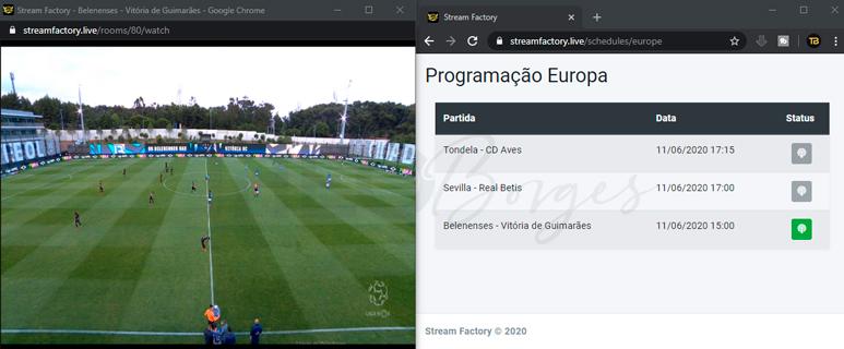 Stream Factory - Streaming para Trader Esportivo